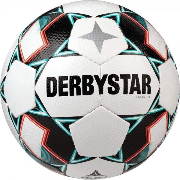 Derbystar Fussball Brillant TT weiss grün schwarz Gr. 5