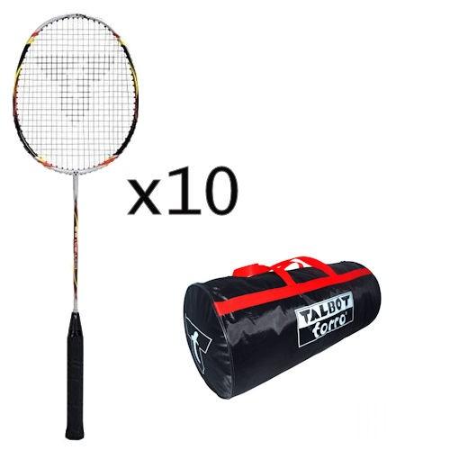 Talbot-Torro Badmintonschläger Combat 5.6 Schlägerpaket incl. Tasche