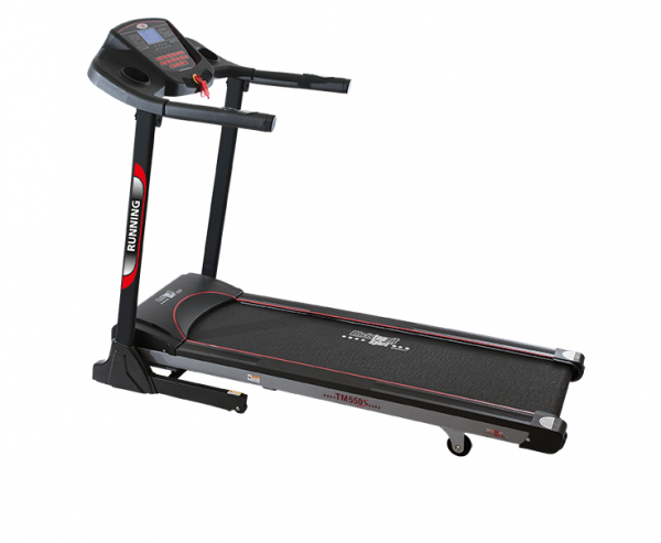 Christopeit Laufband TM 550S schwarz/silber/ rot, 18 km/h, Power Incline