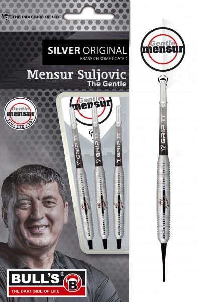 "BULL'S ""Mensur Suljovic"" Team Player silver Soft Dart"