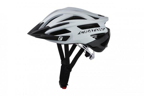 Cratoni Fahrradhelm Agravic white-black glossy