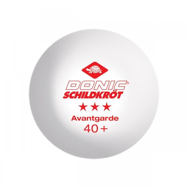 Donic-Schildkröt Tischtennisball 3* Avantgarde 3er weiß 608334