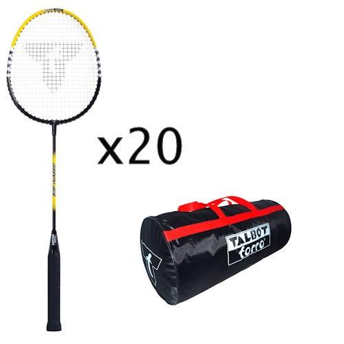 Talbot-Torro Badmintonschläger Bisi Classic Schlägerpaket incl. Tasche