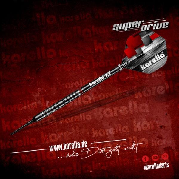 Karella Softdart SUPERDRIVE, schwarz, 90% Tungsten